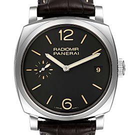 Panerai Radiomir 1940 Black Dial 3 Days 47mm Steel Watch PAM00514 Box Papers