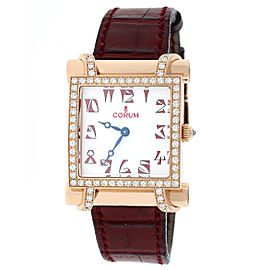 Corum Antika 18K Rose Gold With Diamond Bezel Womens Watch
