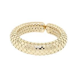 John Hardy 18K Yellow Gold Dot Cuff Bangle Hinged Bracelet