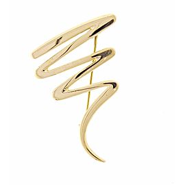 Tiffany & Co. 18K Yellow Gold Paloma Picasso Scribble Brooch
