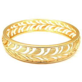 Tiffany & Co. Paloma Picasso 18k Yellow Gold Villa Palm Bangle Bracelet
