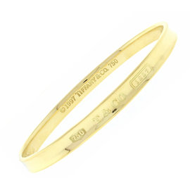 Tiffany & Co. 18k Yellow Gold 1837 Bangle Bracelet