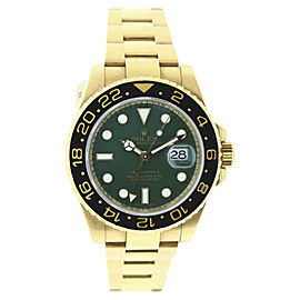 Rolex GMT Master 116718 18k Yellow Gold 40mm Mens Watch