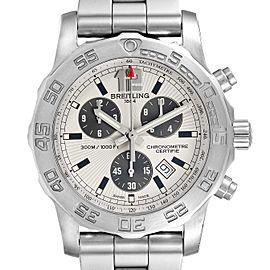 Breitling Colt Chronograph Quartz Silver Dial Steel Mens Watch A73387