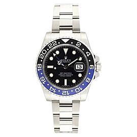 Rolex GMT Master II 116710 BLNR Stainless Steel Batman Blue Black Dial Ceramic Bezel 40mm Mens Watch