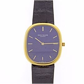 Patek Phillippe Golden Ellipse Jumbo 18K Yellow Gold 31mm Mens Watch