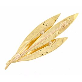 Buccellati 18K Yellow Gold Leaf Brooch