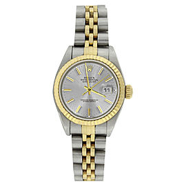Rolex Datejust 79173 Stainless Steel & 18K Yellow Gold Silver Dial 26mm Watch