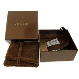 Gucci Flora 18K Yellow Gold Smoky Quartz Charm Ring Size 6.75
