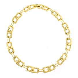 Tiffany & Co. 18K Yellow Gold Geometric Link Necklace