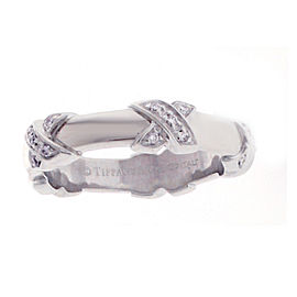 Tiffany & Co. 18K White Gold Diamond Band Size 5.5