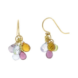 Temple St Claire Yellow Gold Karina Multi Colored Gemstone Earrings