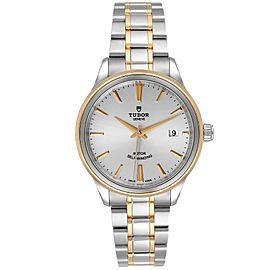 Tudor Style Date 41mm Silver Dial Steel Mens Watch M12303 Unworn