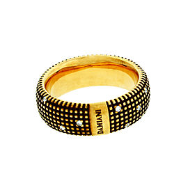 Damiani 18K Yellow Gold Metropolitan Dream Diamond Band Ring Size 7.25