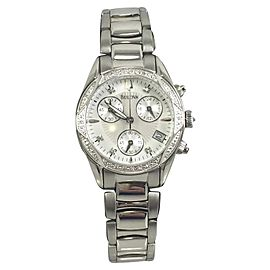 Bulova 96R134 Stainless Steel Silver Dial 32mm Womens Watch