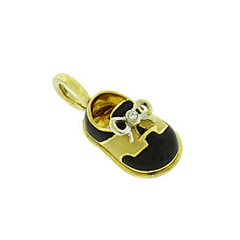 Aaron Basha 18K Yellow Gold 0.01ct. Diamond Shoe Charm/Pendant