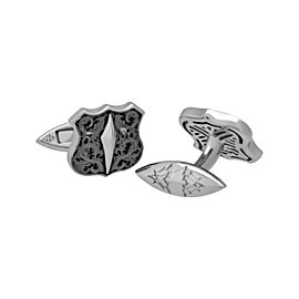 Stephen Webster 925 Sterling Silver Highwayman Shield Cufflinks