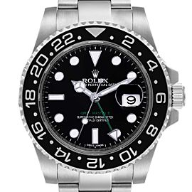 Rolex GMT Master II Black Dial Steel Mens Watch