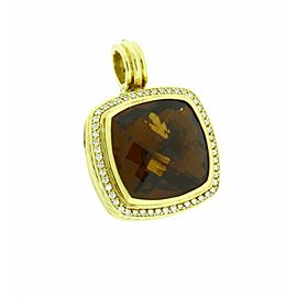 David Yurman 18K Yellow Gold Citrine Albion & Diamonds Pendant
