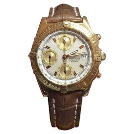 Breitling Chronomat K13352 18K Yellow Gold 40.5mm Mens Watch