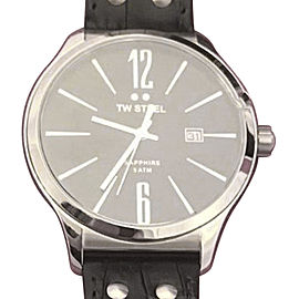 TW Steel Slim Line TW1300 Stainless Steel & Black Dial 45mm Mens Watch