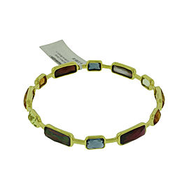 Ippolita 18K Yellow Gold with Rock & Candy Gelato 12 Stone Bangle Bracelet