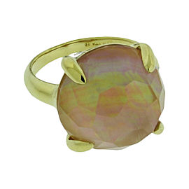 Ippolita 18K Yellow Gold with Shell Lollipop Ring Size 7