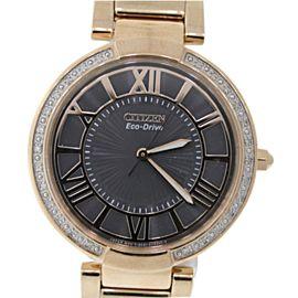 Citizen EM0103-57X Rose Gold Tone Stainless Steel & Diamond 34mm Womens Watch