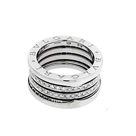 Bulgari B.zero 18K White Gold with Diamond Ring Size 5.5
