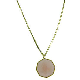 Ippolita Rock Candy 18K Yellow Gold with Pink Opal Large Octagon Pendant Necklace