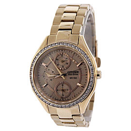 Citizen FD1063-57X Rose Gold Tone Stainless Steel 34.5mm Womens Watch