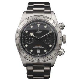Tudor Heritage Black Bay 79350 Stainless Steel Black Dial 41mm Mens Watch