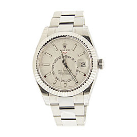 Rolex Sky Dweller 326934 Stainless Steel White Dial 42mm Mens Watch