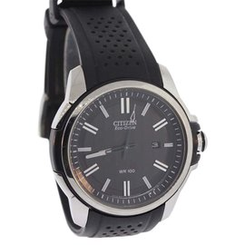 Citizen AW1150-07E Silver Accented with Black Chroma Finish Stainless Steel 44.5mm Mens Watch