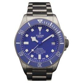 Tudor Pelagos 25600TB Titanium Blue Dial 42mm Mens Watch