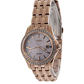Citizen EW1903-52A Rose Gold Tone Stainless Steel 28mm Womens Watch