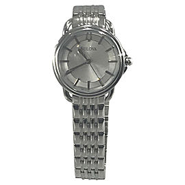 Bulova 96L171 Stainless Steel Silver Dial 34mm Womens Watch