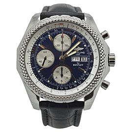 Breitling Bentley A13363 Stainless Steel Blue Automatic Chronograph 45mm Mens Watch