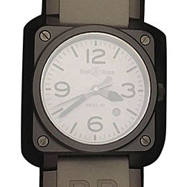 Bell & Ross Commando BR0392 Ceramic & Gray Dial Mens Special Edition Watch