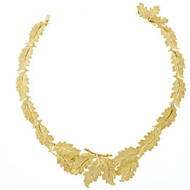 Buccellati 18K Yellow Gold Oak Leaf Necklace