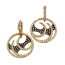 Stephen Webster Vortex 18K Yellow Gold Diamond Hoop Earrings