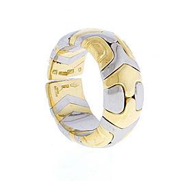 Bulgari Parentesi 18K Yelllow Gold and Stainless Steel Ring Size 6