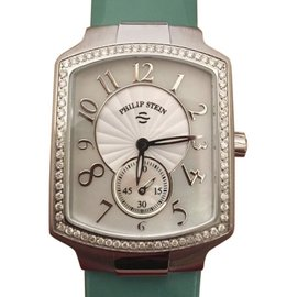 Philip Stein 21DFMOP Stainless Steel & Diamond Womens Watch