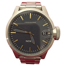 Nixon Chronicle NAVY A4412076 Stainless Steel 44mm Mens Watch