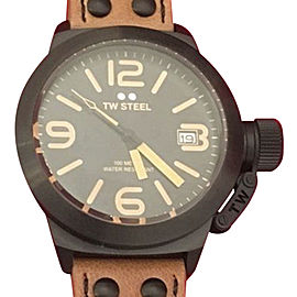 TW Steel Canteen CS41 Black PVD Coated Stainless Steel & Black Dial 45mm Mens Watch