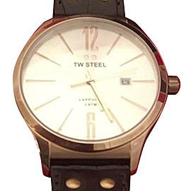 TW Steel TW1304 Rose Gold Tone Stainless Steel & Silver Dial 45mm Mens Watch