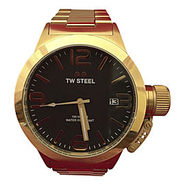 TW Steel Canteen CB91 Gold Plated & Black Dial 45mm Mens Watch