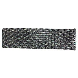 Stephen Webster 925 Sterling Silver With Black Mother of Pearl Superstud 5 Row Inlay Bracelet