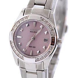 Citizen Susan G. Comen EW1820-58X Stainless Steel & Pink Dial 26mm Womens Watch