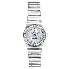 Omega Constellation My Choice Mini Diamond Steel Ladies Watch